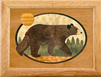 Black Bear Trinket Box