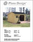 8' x 10' Firewood Storage Shed Project Plans -Design #70810