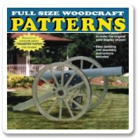 Civil War Cannon  Woodworking Pattern