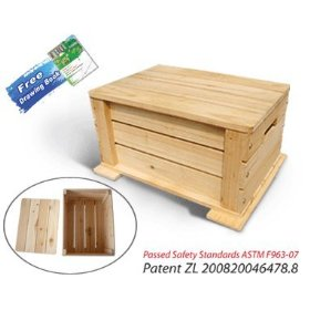 Kid's Unfinished Fir Toy Chest Kit