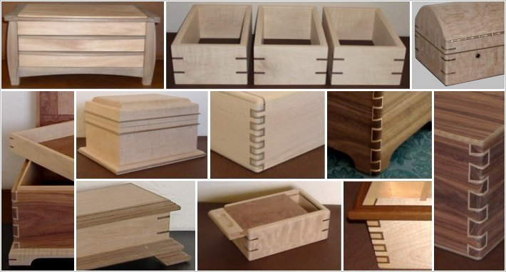 Contrasting Wood Joints | Handcrafted Wood Boxes