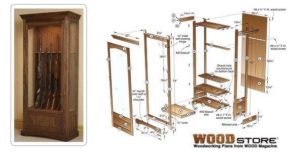 Gun Cabinet Woodworking Plans