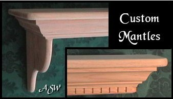 how to make faux oak mantles