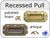 Brass and Antique Recessed Pulls