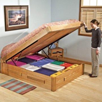 Bed lift mechanisms under bed storage - Lift up under bed storage ...