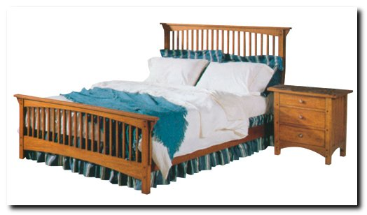 Build your own bed plans for Mission style bed frame plans