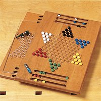 Game pieces and templates for Chinese checkers board template