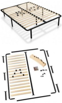 Platform Bed Frames with Wooden Slats