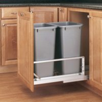 Double Aluminum Pullout Waste Containers