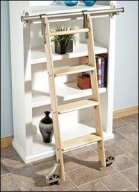 Ladder Systems on Rockler Classic Satin Black Rolling Library Ladder Hardware