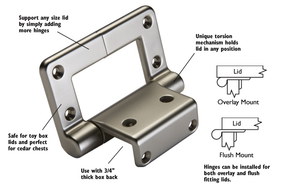 Box Lid Hinges : How to install toy box hinges