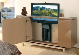 Tv lift for flat screen tv flat panel televisions for Tv cabinets hidden flat screens