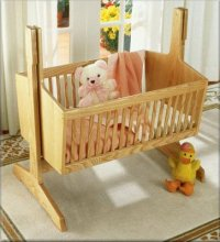 HOODED BABY CRADLE woodworking plans and information at