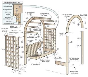Build Your Own Garden Arbor Woodworking Plans