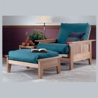 Futon Chair and Ottoman