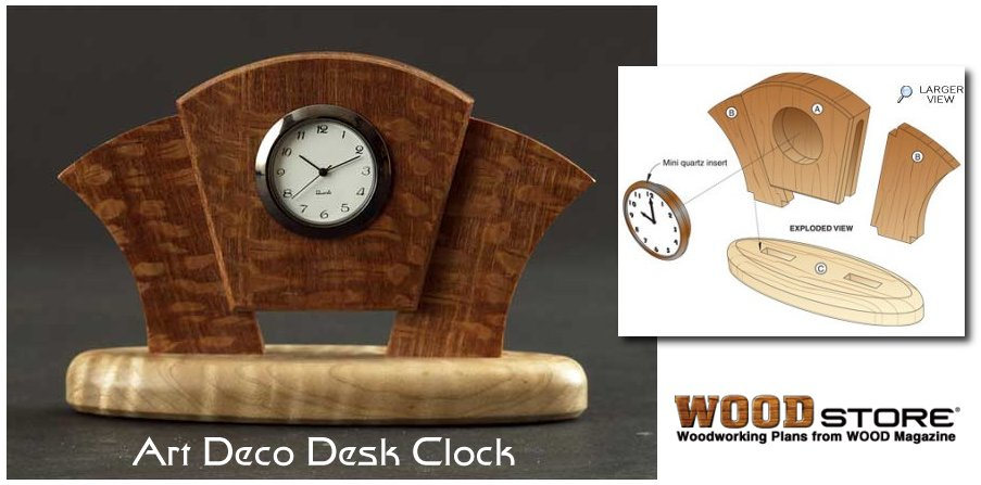 art deco desk clock plans