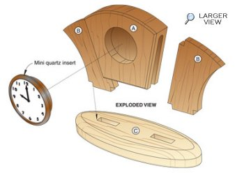 Art Deco Desk Clock Woodworking Plan