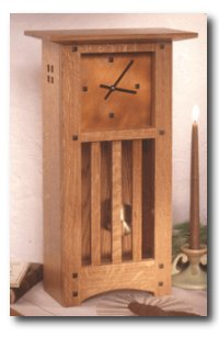 Arts and Crafts Mantle Clock Woodworking Plan