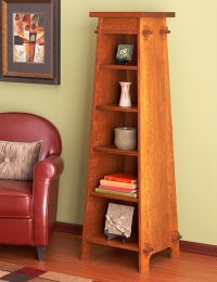 Solid-Oak Tapered Display Tower