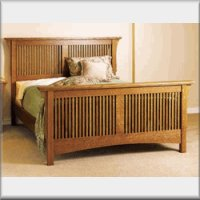 mission style furniture plans bed