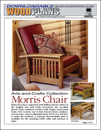 ... The Finished Product Taken After Theyu0027ve Finished Building The Project  Themelves In The WOOD® Magazine Shop. Morris Chair ◂