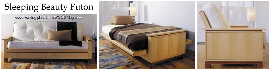 Sleeping Beauty Futon Woodworking Plans Larger View