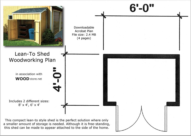 Lean To Shed Free Shed Plans 4x6