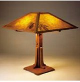 mission style arts and crafts table lamp plan w optional